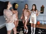 Kinky BFFs Daisy Stone, Jennifer Jacobs and Lily Adams on pov fourway fuck