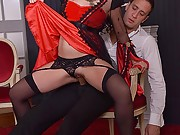 Cassie Fire as vampire in Halloween all holes fucking action