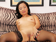 Asian granny gets naked and shows her tempting hot body