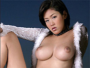 Asian beauty with big tits strips