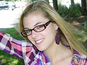 Absolute Adorable Amateur Blonde Teen Babe Wearing Glasses Showing Teen Tits