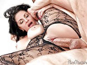 Cristal Caraballo dresses in a lace bodysuit and makes love to her man.