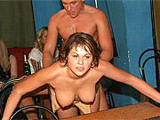 Drunk party girls get fucked by male strippers and everyone watches