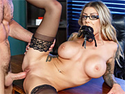 Tattooed slut spices up her sexlife with a kinky office romp