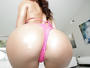 Keisha Grey gets oiled up and drilled in the booty