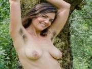 Katie Zuchinni shows her hairy bush in public park