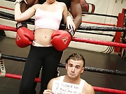 Ripe hottie gets fucked by her hung black boxing trainer
