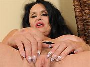 Rita Daniels dark-haired mom with massive boobs fingers twat