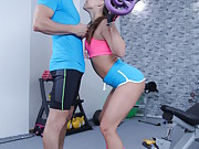 Hungarian fitness babe has sex with her personal trainer