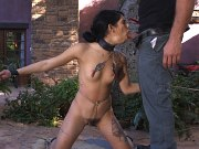 Gina Valentina rope bound and fucked in mouth and ass by maledom