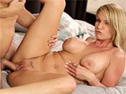 Busty stepmom cures her stepson's headache with steamy sex