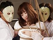 Yukari jons a freaky fetish masked men gangbang and toy party