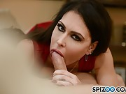 Jessica Jaymes has wild sex with her date in the livingroom