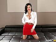 Busty milf Veronica Avluv takes an interracial double penetration