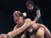 Alana Cruise is rope bound stripped and anal fucked by maledom