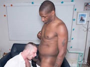 Hairy hunk Brian gives up his ass for black daddy Jack