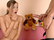 Pretty teen Dana C Ashley getting her ass poked by a massive dick