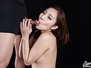 Uika's oral skills and handjob makes him cum all over her
