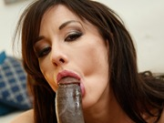 Jennifer White in an interracial anal act on a bbc