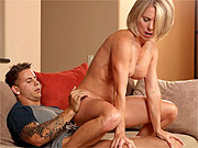 Hot older blonde takes a stud fucking