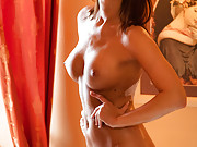 Czech hottie rides dick in the livingroom