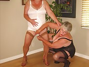 Chubby mature ladies posing in girdles