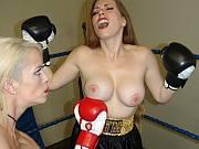Bella Ink vs Samantha Grace foxy boxing stripping fight