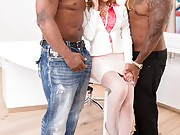 Pretty latina gets DP'ed by two hung black dudes