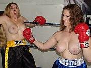 Foxy boxing between topless fetish models Samantha Grace and Terra Mizu