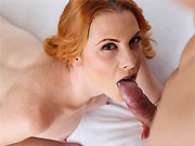 Michelle Russo redhead milf sucks and fucking hard