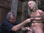 Lilyanna hot blonde on heels is stripped for bondage and sextoys