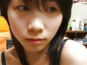 Chinese teen in underwear posing for boyfriend