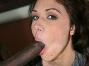 Sweet Katie Angel rides a big black dick and sucks