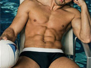 Collection of really hot guys in their speedo swimwear.