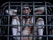 Sierra Cirque is bound in cage and toyed her head shaved bald