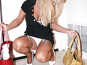 Wife Comes Home and Strips to Her Panties Slip Camisole & Stockings