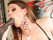Busty Brooklyn Chase enjoys a huge black cock fuck