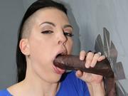 Rachael Madori suckin big black cocks at gloryhole