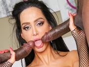 Busty Amy Anderssen enjoys huge black cocks action