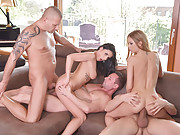 Rich anal sluts Nelly Kent and Rebecca Volpetti intense anal fuck