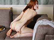 Redhead Jia Lissa has an erotic passion for fruits