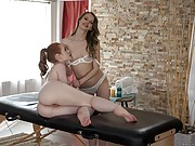 Horny Masseuse Jillian Janson Rubs Ella Hughes At the Right Places