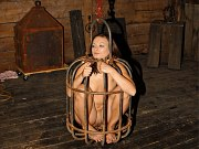 Crissy Moon is bdsm kidnapped and put in a cage her body exposed