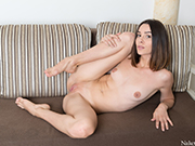 Adel Morel Opens her Bodysuit to Show her Pussy