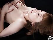 Big tits Japanese girl loves a good tits bukkake party