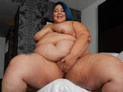Stunning newcomer SSBBW Crystal Blue shows off her curves