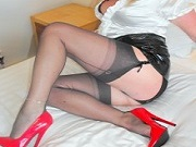 Mature British housewife loves leather