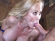Brandi Love busty blonde milf rope bound for toying and bdsm sex