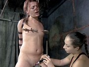 Ten Amorette bound for spanking and toying by lezdom Sister Dee