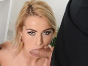 Blonde Cherry Kiss enjoys two cocks in a dp action